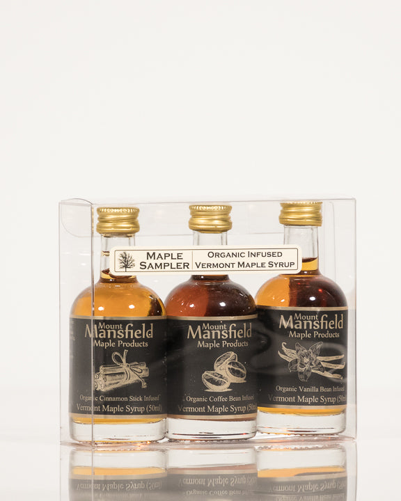 3 Pack infused Maple Syrup Sampler Set