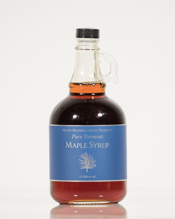 Conventional Liter Glass Bottle Pure Vermont Maple Syrup