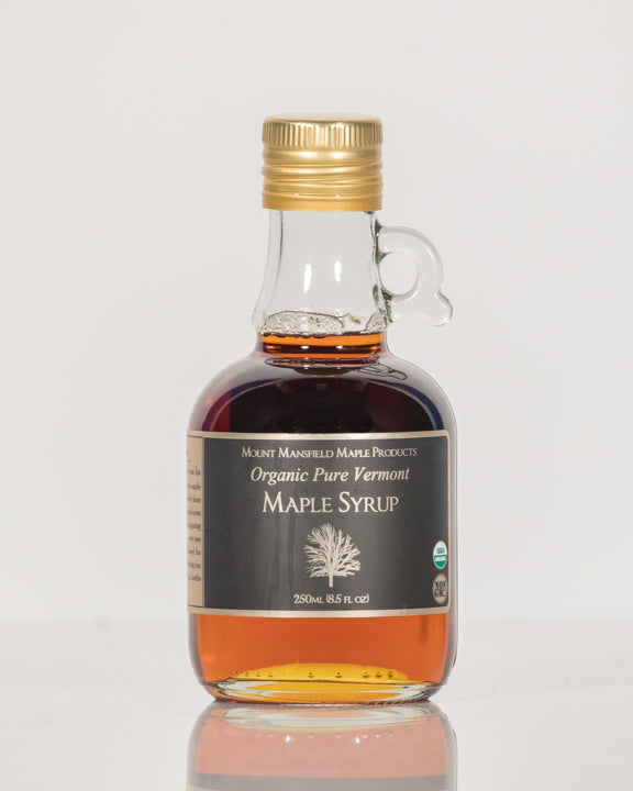 Organic 250ml Glass Bottle Pure Vermont Maple Syrup