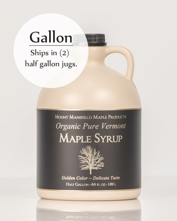 Organic Gallon Plastic Jug Pure Vermont Maple Syrup