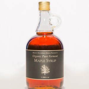 Organic Pure Vermont Maple Syrup- Glass Jug