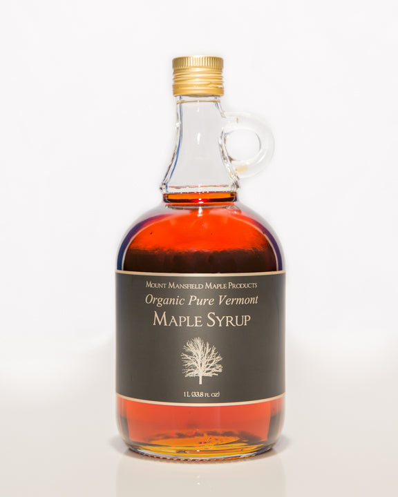Organic Liter Glass Bottle Pure Vermont Maple Syrup