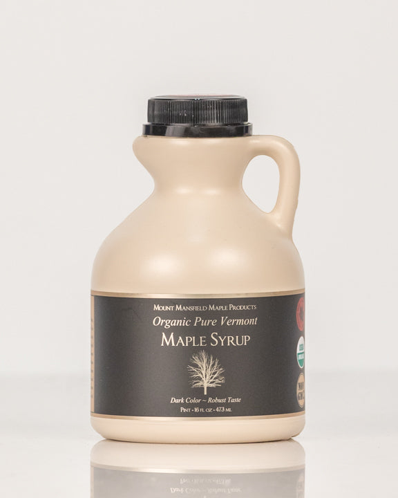 Organic Pint Plastic Jug Pure Vermont Maple Syrup