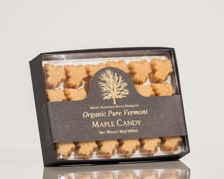 Organic Pure Maple Sugar Candy- Retail Window Box Pound
