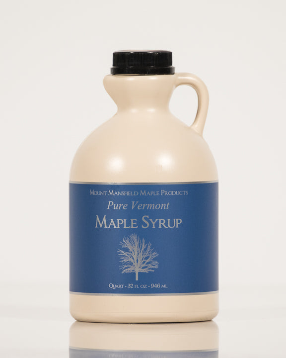 Conventional Quart Plastic Jug Pure Vermont Maple Syrup