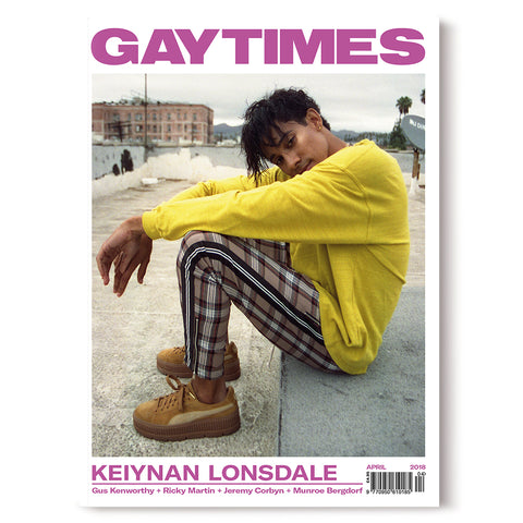 GAY TIMES APRIL 2018 • KEIYNAN LONSDALE