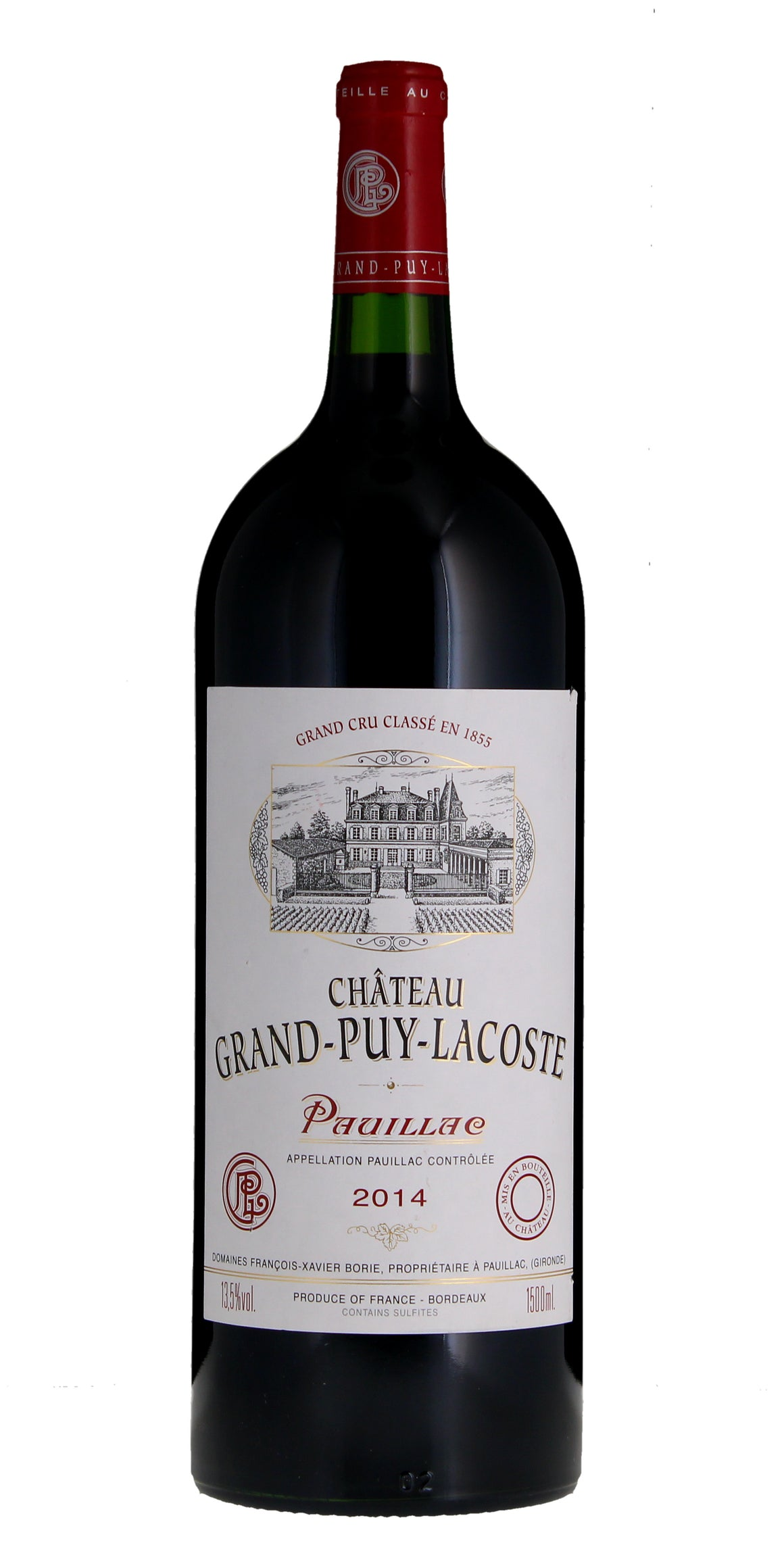 Chateau Grand Puy Lacoste, Pauillac, 2014, Magnum