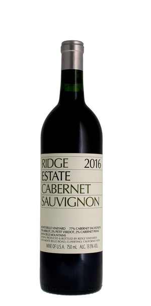 Ridge Vineyards Estate Cabernet Sauvignon, Santa Cruz Mountains 2016