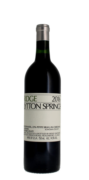Ridge Vineyards Lytton Springs, Dry Creek Valley 2016