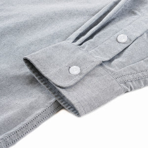 Persevere Simple Oxford Shirts- Grayish Blue