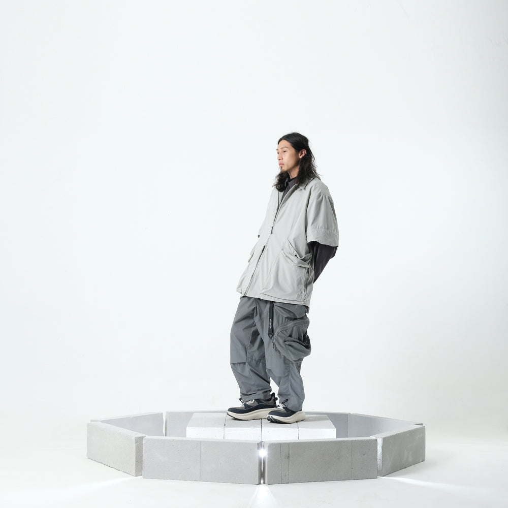 PERSEVERE PIGMENT-DYED OVERSIZE SWEATSHIRTS -BLACK