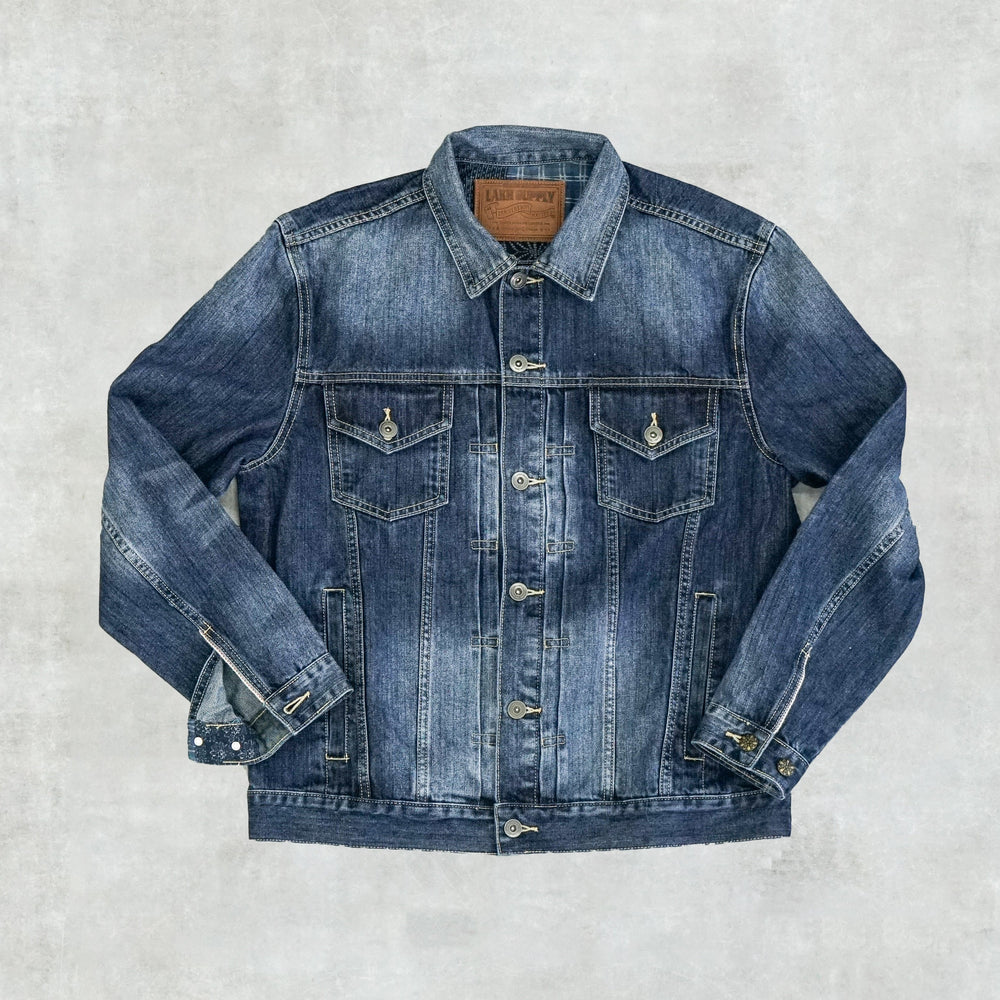 Lakh Supply Classic Denim Jacket-Patchwork Sky Blue