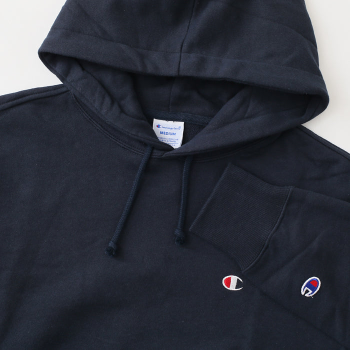 Champion Hood Small Logo -Navy