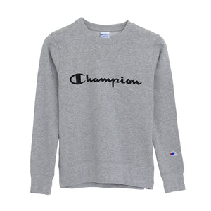 Champion Middle Logo Crewneck(Women)  - GREY