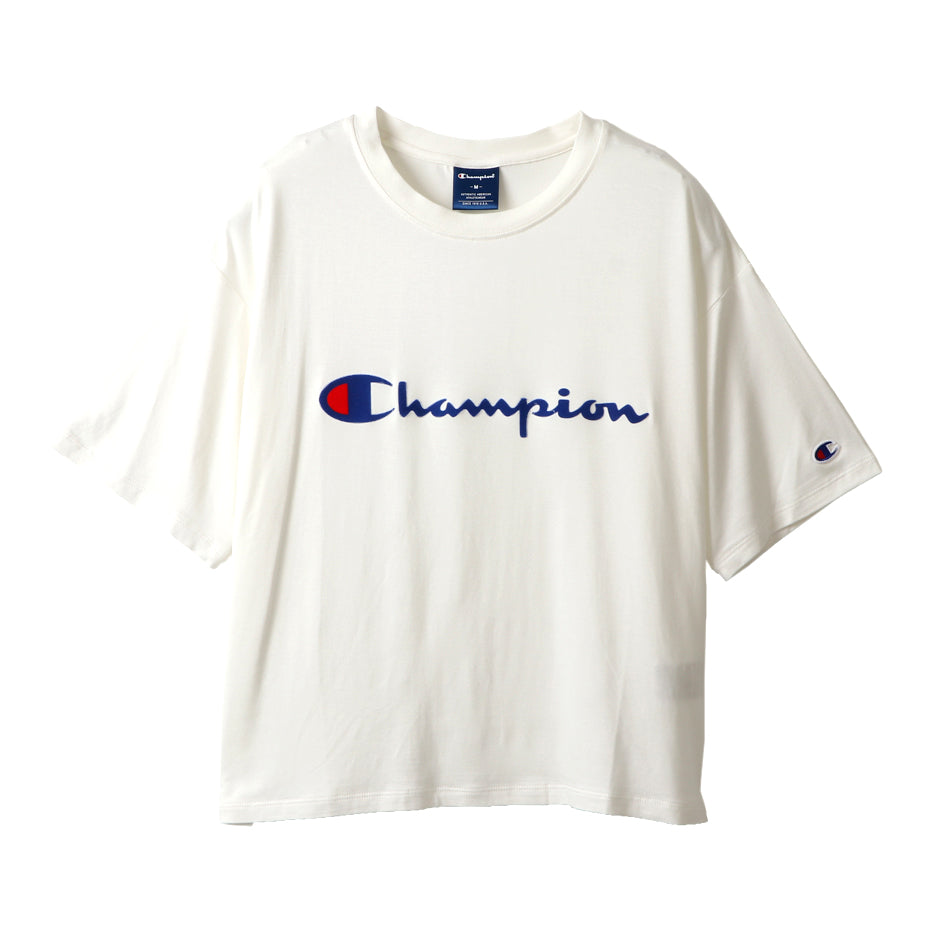 CHAMPION W Middle Logo Tee - WHITE