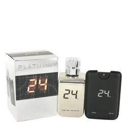 24 Platinum The Fragrance Eau De Toilette Spray + 0.8 oz Mini Pocket Spray By ScentStory