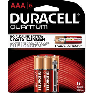 Duracell Quantum AAA 6Pcs Batteries Lasts Longer
