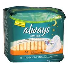 ALWAYS 14s Pads Ultra Thin Overnight w/flexi wings - Always14s Pads Ultra Thin Overnight w/flexi wings