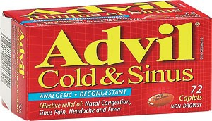 ADVIL Cold & Sinus 72 Caplets - Advil Cold & Sinus 72 Caplets