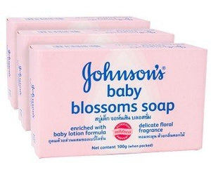 Johnson's Baby Soap 100 g Blossoms  - Johnson's Baby Soap 100 g Blossoms