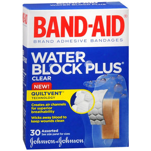 BAND-AID 30's Clear Water Block Plus - BAND-AID 30's Assorted Sizes Clear Water Block Plus