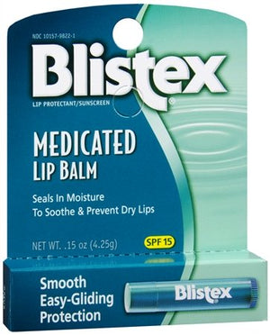 Blistex Lip Medicated Lip Balm  spf 15   0.15OZ (4.25g)  Seals In Moisture