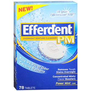 EFFERDENT  PM 78 TABLETS - EFFERDENT  PM Anti-Bacterial Denture Cleanser  78 TABLETS