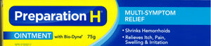 Preparation H Ointment With Bio-Dyne 75g