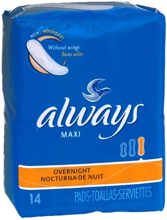 ALWAYS 22's Maxi Pads Long Super Without Wings