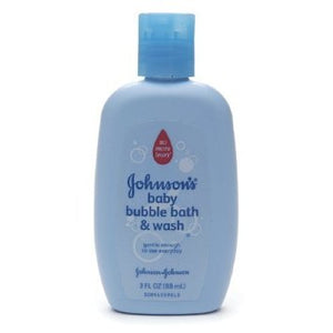 Johnson Baby Bubble Bath & Wash 88ml - Johnson Baby Bubble Bath & Wash Trial Size 3 oz(88ml)