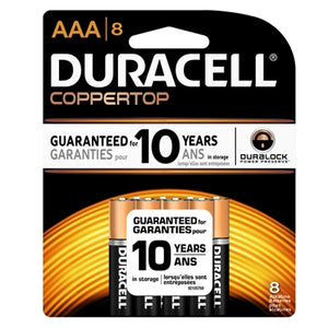Duracell Coppertop AAA 8Pcs Batteries