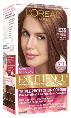 L'ORÉAL Excellence Creme E35 Light Chestnut Brown