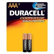 DURACELL Coppertop AAA 2 Pcs Battery