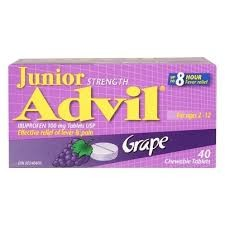 Advil Junior Strength 40 ChewableGrape - Advil Junior Strength 40 Chewable Grape tablets