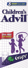 Children's Advil Grape Dye Free 100 ml Alcohol Free