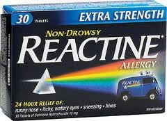 Reactine Extra Strength 30's