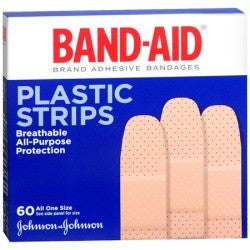 Band-Aid Plastic Strips 60 All One Size