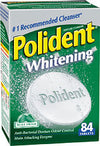 POLIDENT WHITENING DENTURE CLEANSER 84 TABLET