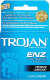 Trojan ENZ  Armor Spermicidal  - Trojan ENZ 3 Latex Condoms