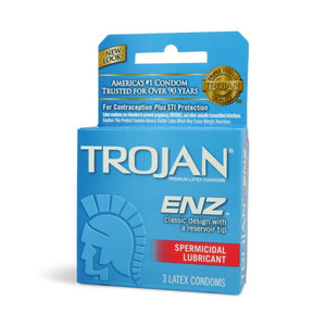 Trojan ENZ  Classic Design 3 Latex Condoms - Trojan ENZ 3 Latex Condoms