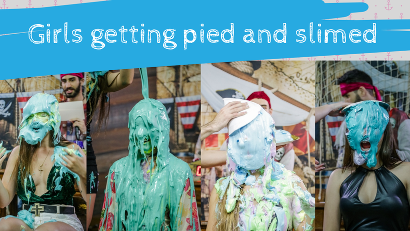 Girls getting pied and slimed | challenge
