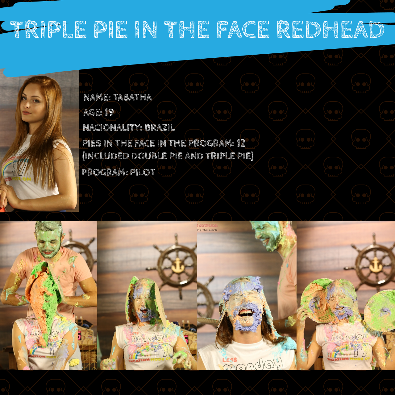 Pie in the face redhead