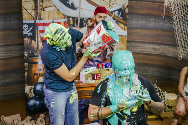 Handsome Guys Getting Pied and slimed