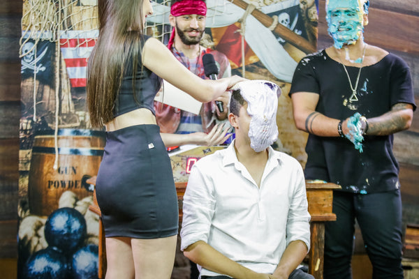 Handsome guys pied by girls (Handsome Andreas and João getting pied) - program 10