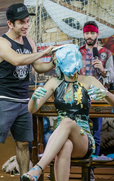 pie in the face girl