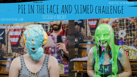 girls getting pied and slimed