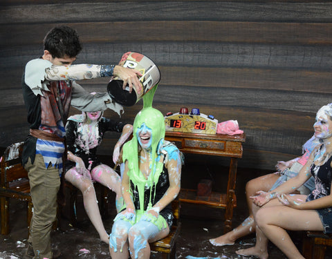 Pie Face Game - The Slime Punishiment - FullHD.mp4