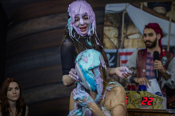girls getting pied and gunged