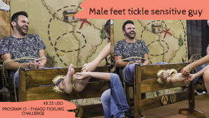 Male feet tickle, 'unlucky boy' [Program 13 part 2, Thiago - FullHD]