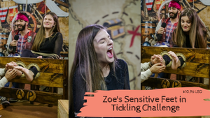 Zoe Sensitive Feet in Tickling Challenge